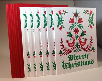 """6 pack Dutch """"Merry Christmas"""" letterpressed cards"""