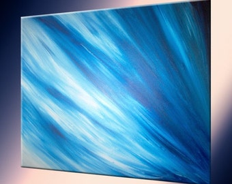 Original Painting by LaffertyArt - Blue Abstract Sale , Fathers Day Gift, Fathers Day Sale