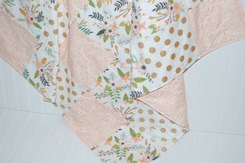 Floral Couette Rose Bebe Fille Bebe Couette Or Couette Bebe Etsy
