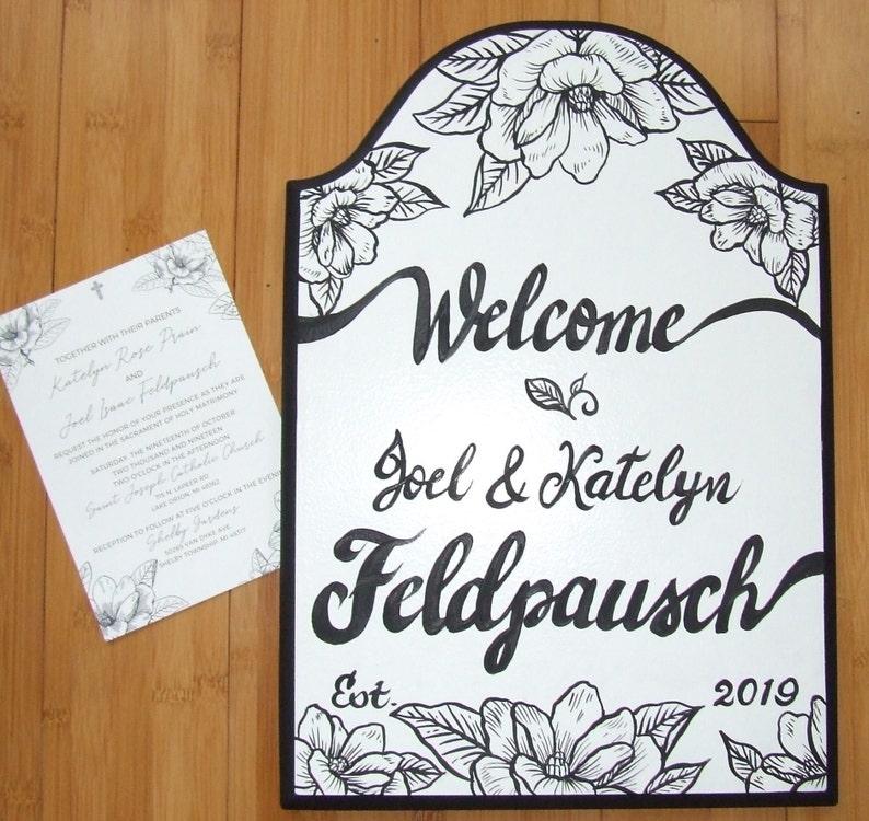 Wedding Invitation hand painted on sign Custom Wedding Gift Custom Wedding Sign Custom Sign