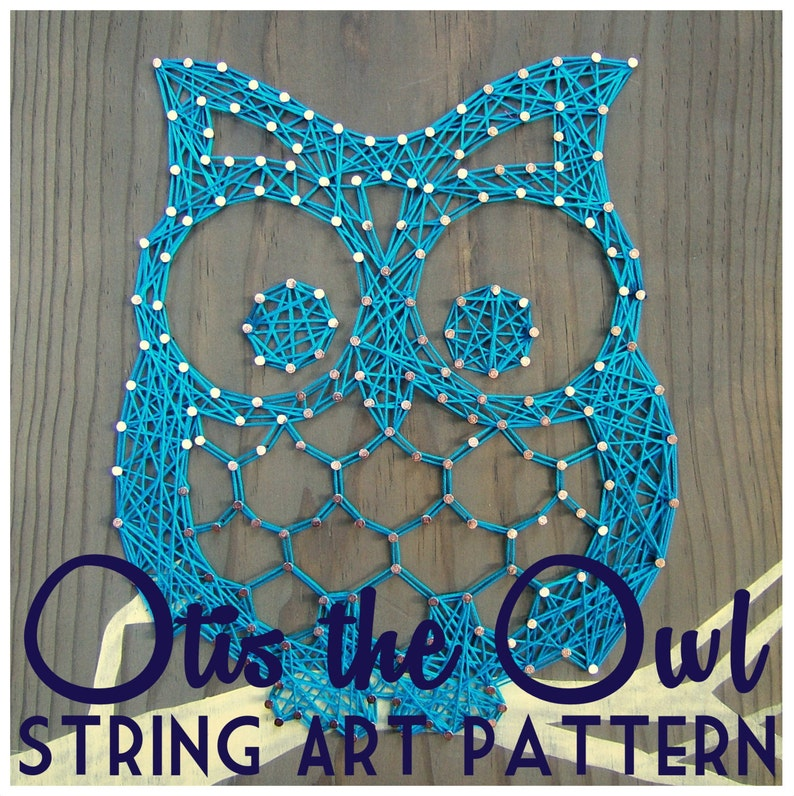 String Art Pattern  Otis the Owl  9.5 x 7.5 image 0