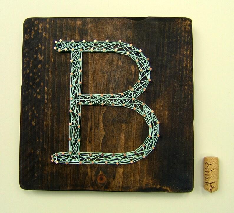 Typewriter Monogram  Modern String Art Tablet image 0