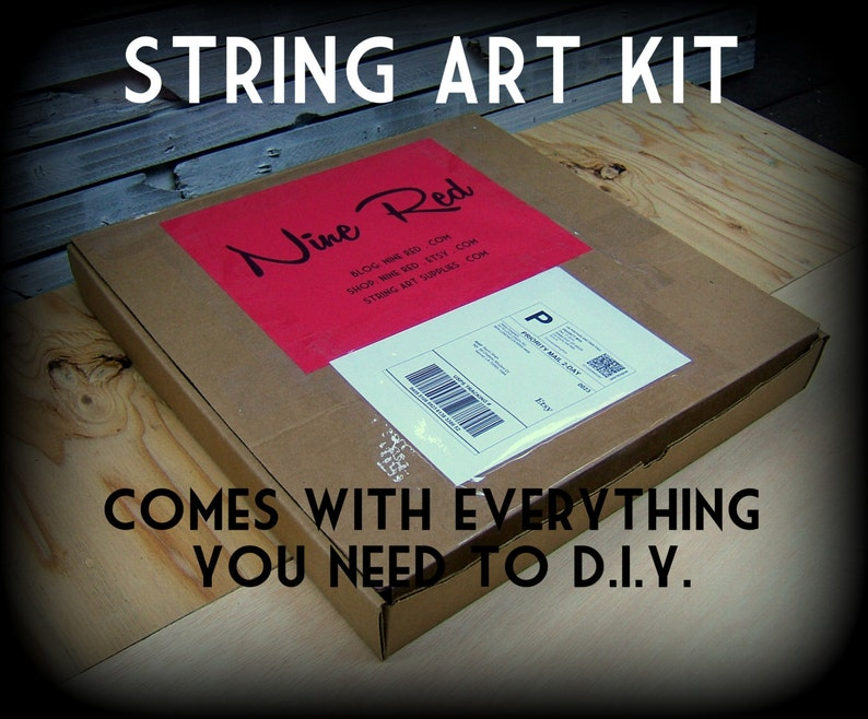 Pick a Pattern Kit  DIY String Art  All supplies included image 0