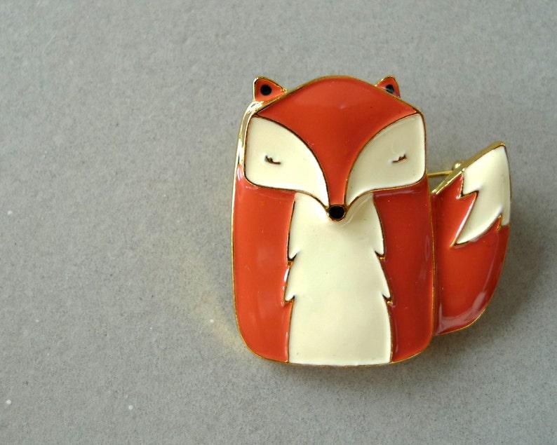 Mr Fox Enamel Pin image 0