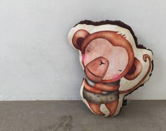Cheeky Monkey Cushion/Pillow