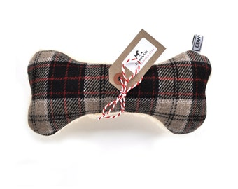 Wool Fleece Squeaker Bone Dog Toy