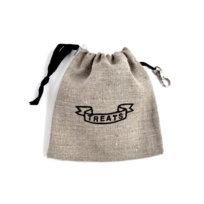 Dog Treat Bag Treat Pouch Natural Linen