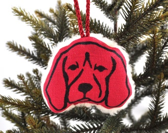 Fleecy Beagle Christmas Tree Decoration
