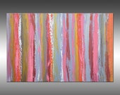 Pink & Metal 2 - PAINTING PRINT - Stretched Canvas, Gallery Quality Giclee Print of Gorgeous Original Painting by Hilary Winfield
