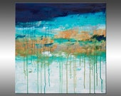 Lithosphere 151 - PAINTING PRINT - Stretched Canvas, Gallery Quality Giclee Print of Gorgeous Original Painting by Hilary Winfield