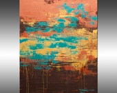 Lithosphere 184  - PAINTING PRINT - Stretched Canvas, Gallery Quality Giclee Print of Gorgeous Original Painting by Hilary Winfield
