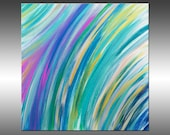 Abstract Feathers 3 - PAINTING PRINT - Stretched Canvas, Gallery Quality Giclee Print of Gorgeous Original Painting by Hilary Winfield
