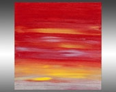 Sunset 54 - PAINTING PRINT - Stretched Canvas, Gallery Quality Giclee Print of Gorgeous Original Painting by Hilary Winfield