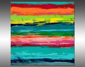 Reclaimed 3 - PAINTING PRINT - Stretched Canvas, Gallery Quality Giclee Print of Gorgeous Original Painting by Hilary Winfield