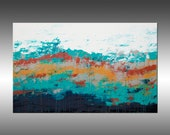 Lithosphere 132 - PAINTING PRINT - Stretched Canvas, Gallery Quality Giclee Print of Gorgeous Original Painting by Hilary Winfield