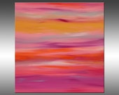 Sunrise 48 - PAINTING PRINT - Stretched Canvas, Gallery Quality Giclee Print of Gorgeous Original Painting by Hilary Winfield