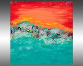 Tropical Paradise 3 - PAINTING PRINT - Stretched Canvas, Gallery Quality Giclee Print of Gorgeous Original Painting by Hilary Winfield