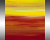 Sunset 53 - PAINTING PRINT - Stretched Canvas, Gallery Quality Giclee Print of Gorgeous Original Painting by Hilary Winfield