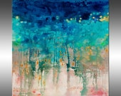 Lithosphere 183 - PAINTING PRINT - Stretched Canvas, Gallery Quality Giclee Print of Gorgeous Original Painting by Hilary Winfield
