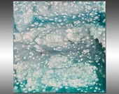 Aquamarine - PAINTING PRINT - Stretched Canvas, Gallery Quality Giclee Print of Gorgeous Original Painting by Hilary Winfield