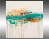 Lithosphere 171 - PAINTING PRINT - Stretched Canvas, Gallery Quality Giclee Print of Gorgeous Original Painting by Hilary Winfield