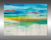 Lithosphere 162 - PAINTING PRINT - Stretched Canvas, Gallery Quality Giclee Print of Gorgeous Original Painting by Hilary Winfield
