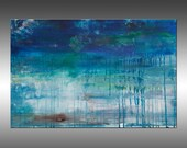 Lithosphere 185 - PAINTING PRINT - Stretched Canvas, Gallery Quality Giclee Print of Gorgeous Original Painting by Hilary Winfield