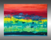 Lithosphere 152 - PAINTING PRINT - Stretched Canvas, Gallery Quality Giclee Print of Gorgeous Original Painting by Hilary Winfield