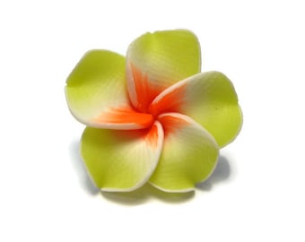 20 mm Polymer Clay Plumeria Flower Beads set of 4 (P20)