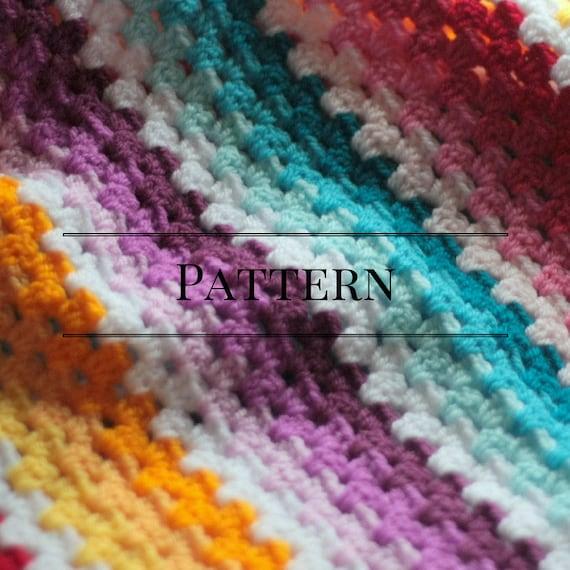 Granny Stripe Baby Blanket Ombre Easy Beginner Baby Afghan Etsy