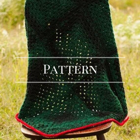 Easy Crochet Granny Square Afghan Pattern Etsy