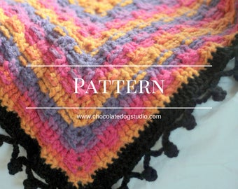 The crochet Basketweave Afghan pattern- an easy basket weave crochet throw, a granny square variation