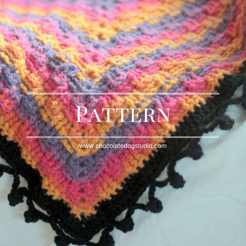 Basketweave Crochet Blanket Pattern An Easy Basket Weave Etsy