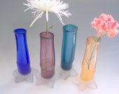 items similar to studio glass hand blown bud vase by riker art glass
