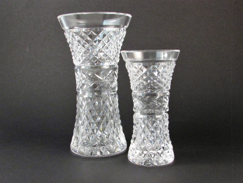 image 0 ... & Vintage Waterford Crystal Vases Glandore Pattern Set of Two | Etsy