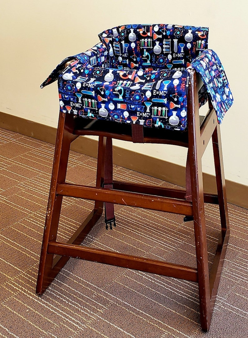 Science Themed Restaurant High Chair Cover Changing Pad Shopping Cart Cover For Toddler And Kids