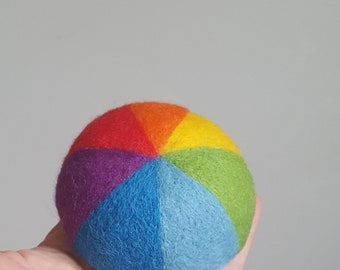 Felt pin cushion rainbow gift dome or tablet shaped pincushion needle felted wool gift for sewers quilters hostess home decoration