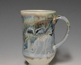 Handmade wheel thrown ceramic mug #1137