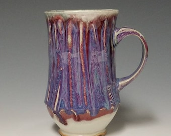 Handmade wheel thrown ceramic mug #1130