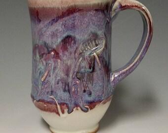 Handmade wheel thrown ceramic mug #1132