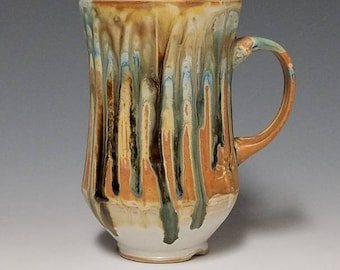 Handmade wheel thrown ceramic mug #1141