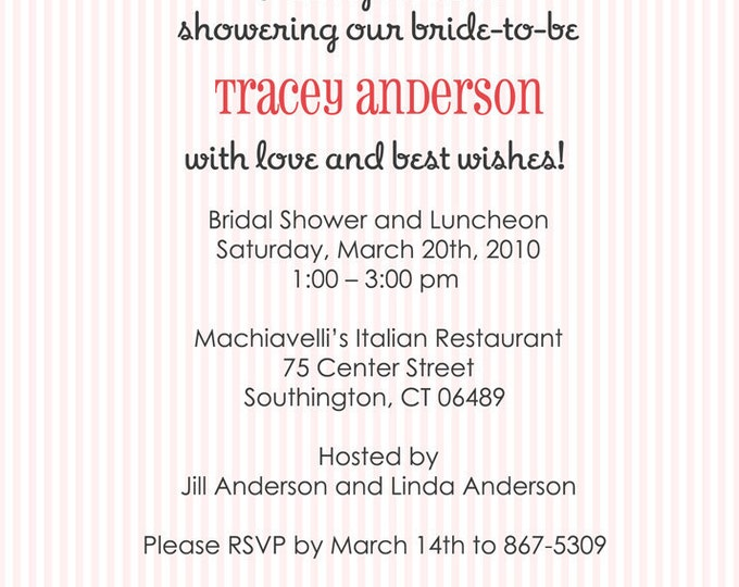 Cherry Blossoms Bridal Shower Invitation - Printable Digital File