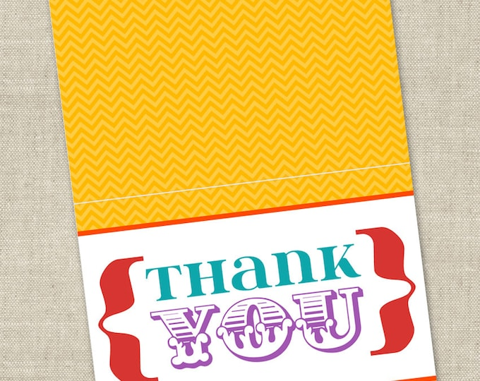 Rainbow Baby Shower Thank You Card - Printable Instant Download Digital File