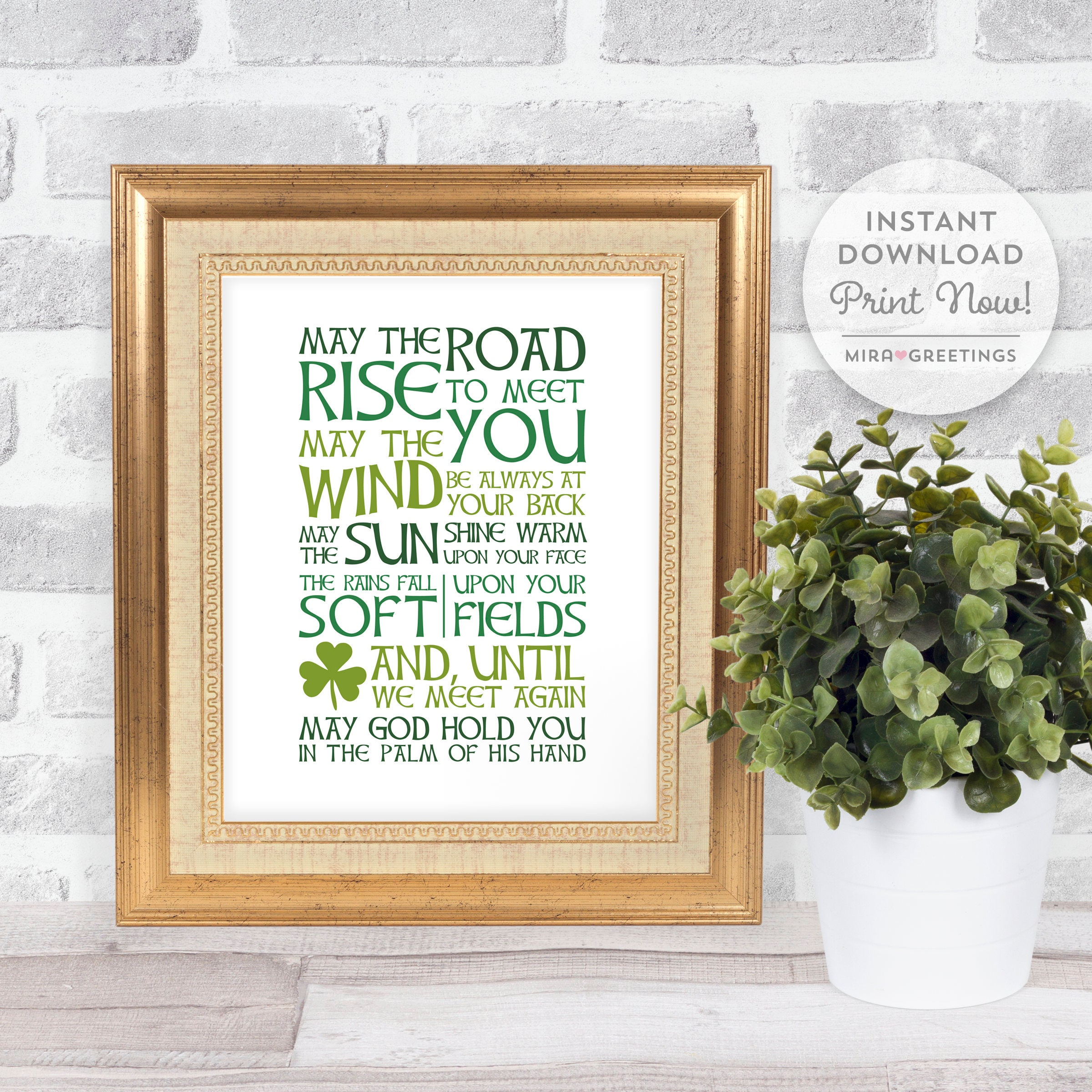 Irish Blessing Digital Art May The Road Rise To Meet You Etsy