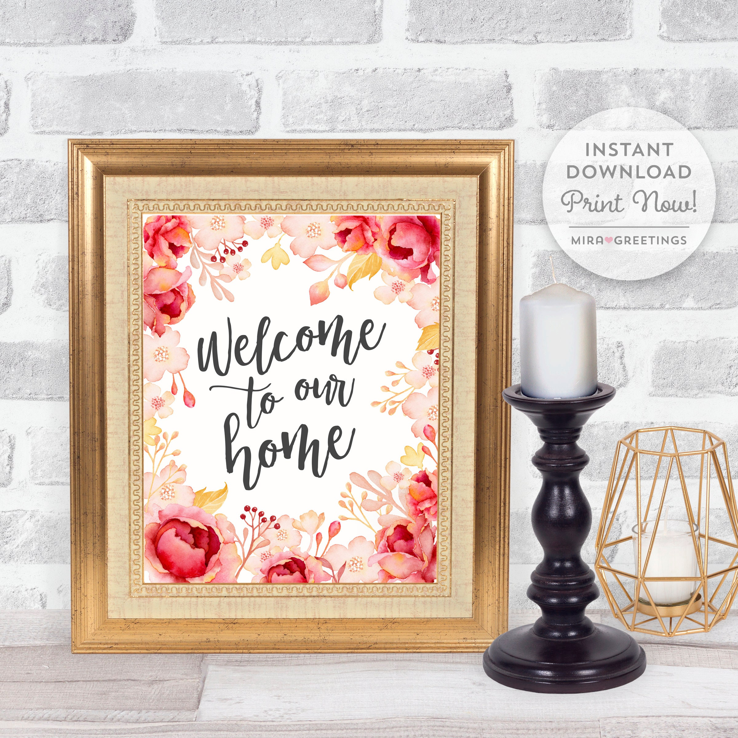 Home Quote Digital Instant Download Welcome To Our Home Quote