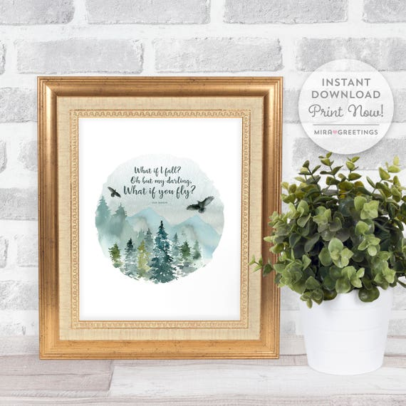 What If I Fall Quote What If You Fly Quote Famous Quotes Etsy