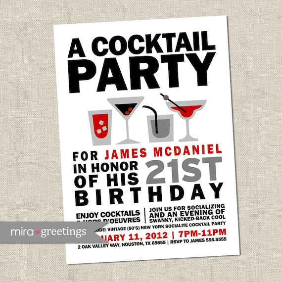 Cocktail party invitation retro birthday party cocktails etsy image 0 filmwisefo