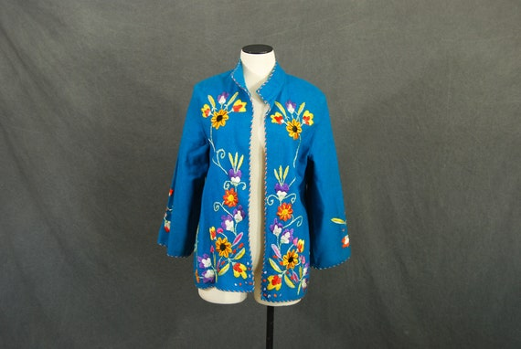 vintage 40s Mexican Embroidered Jacket - 1940s Tur