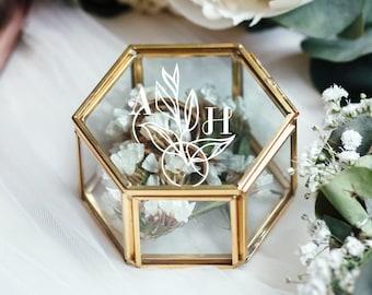 Ring Box, Wedding Ring Box, Ring Bearer Box, Engagement Ring Box, Proposal Ring Box, Glass Ring Box, Personalized Ring Pillow