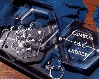 Acrylic Ring Box, Wedding Ring Box, Ring Bearer Box, Engagement Ring Box, Proposal Ring Box, Customized Engagement Ring Box  Gifts for Bride